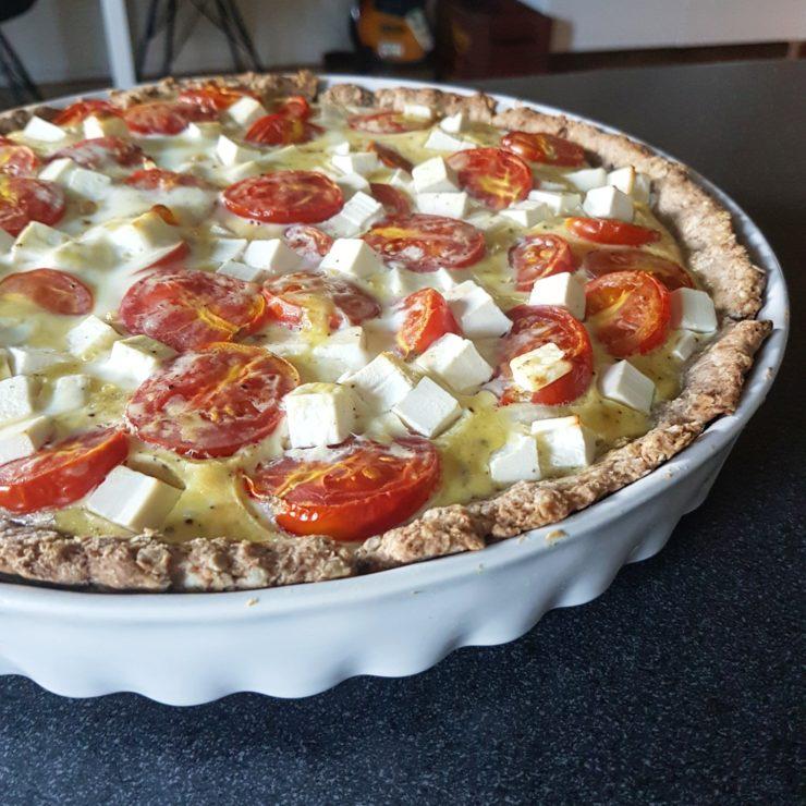 tærte med tomat og feta