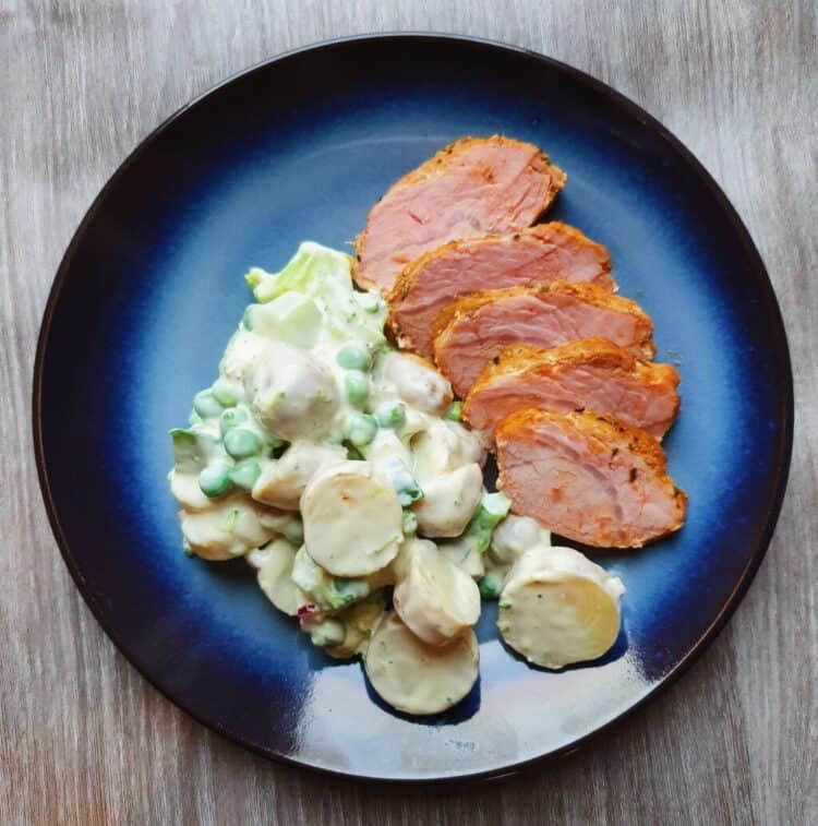 Svinefilet med kartoffelsalat