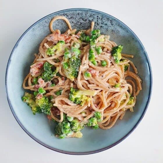 pasta m. bacon og broccoli