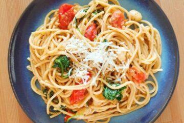 pasta med hvide bønner