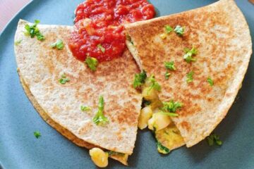 vegetariske quesadillas
