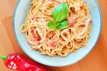 one pot pasta med bagt peberfrugt