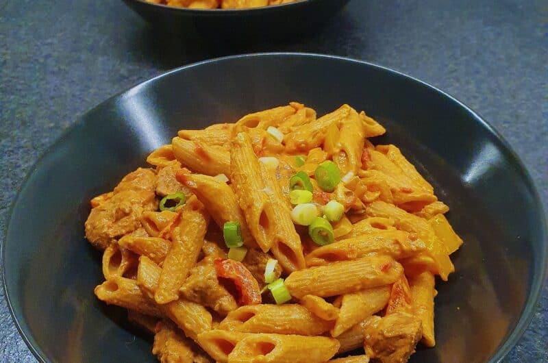 Cremet fajita pasta med chick free