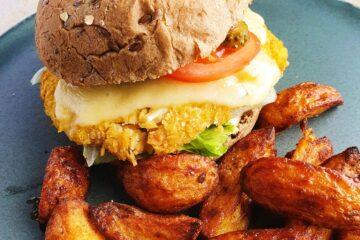 veggieburger med blomkål og kikærter