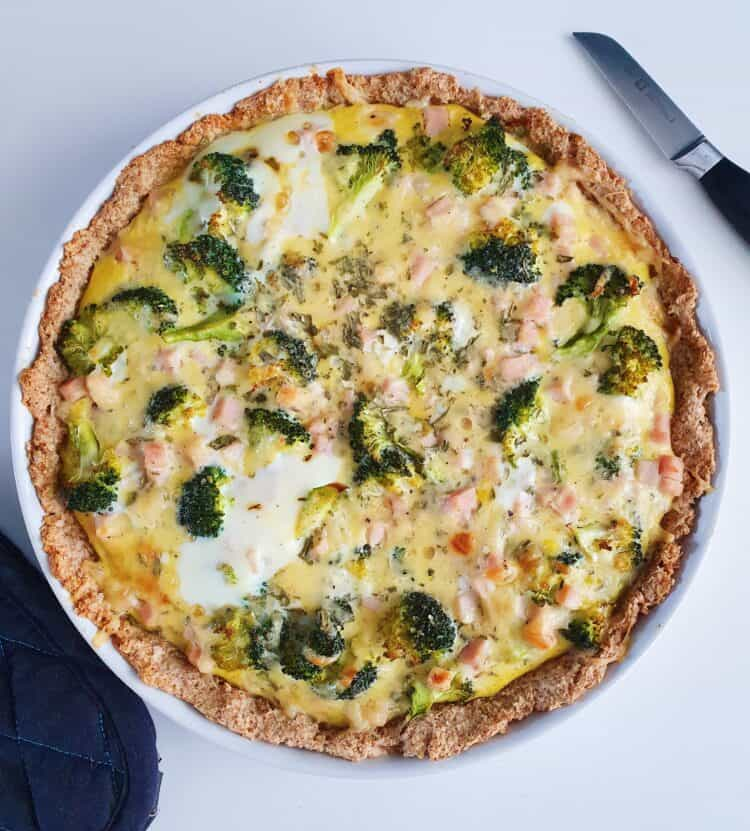 Tærte med kylling og broccoli