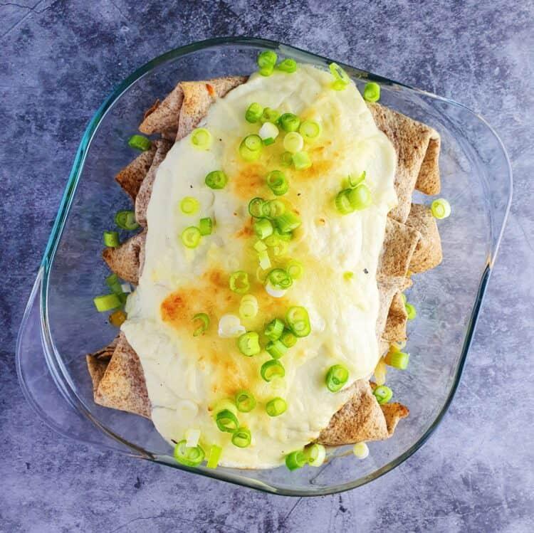 hvide enchiladas med kylling