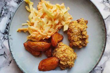 Crispy kylling med coleslaw