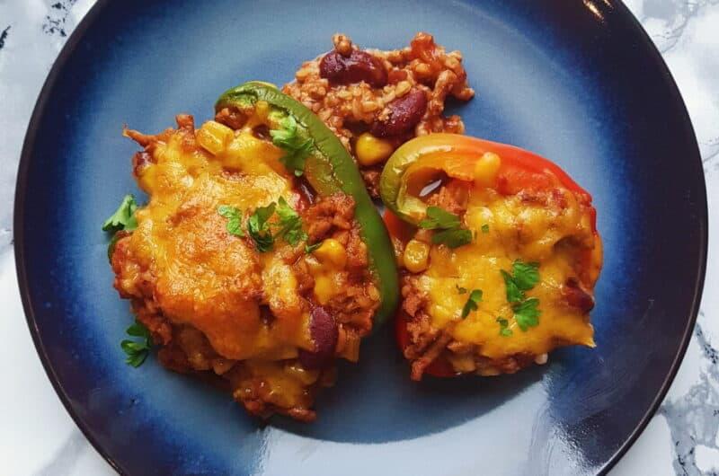 Peberfrugter med vegetarisk mexifyld