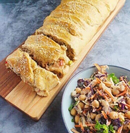 Skinkestang m. fuldkorn og sprød kålsalat