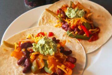 Vegetariske tortillas