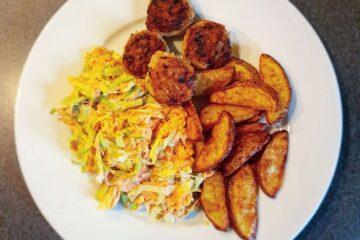 kylling og coleslaw