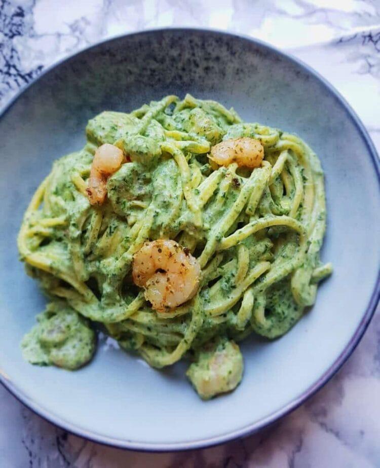 pasta med rejer