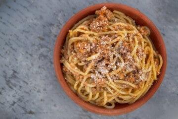 spaghetti koedsauce