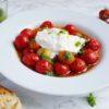 bagte tomater burrata
