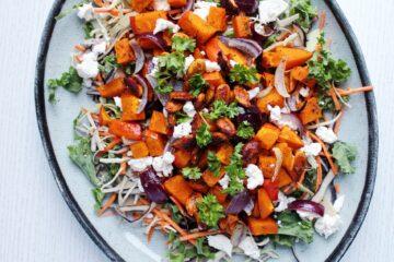 salat med græskar