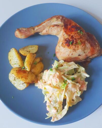 Kyllingelår m. citron og timian