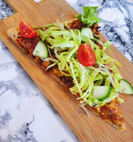 Taco pizza m. fuldkornsbund