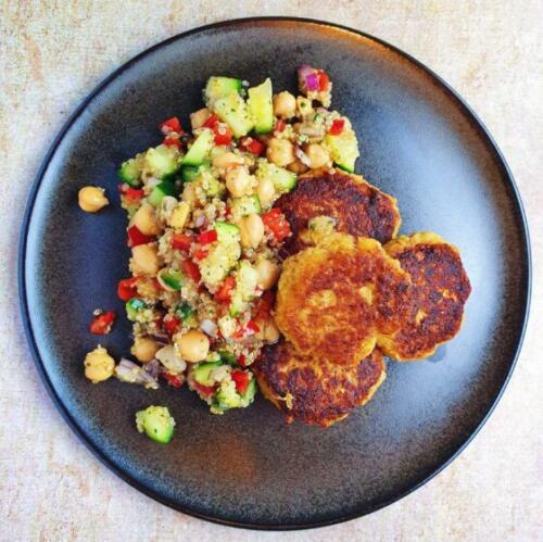 Sellerideller med quinoasalat