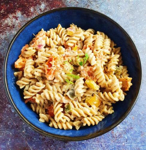 TikTok pasta med ovnbagt feta og grønt