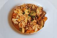 Spicy kål m. oksekød og kartofler